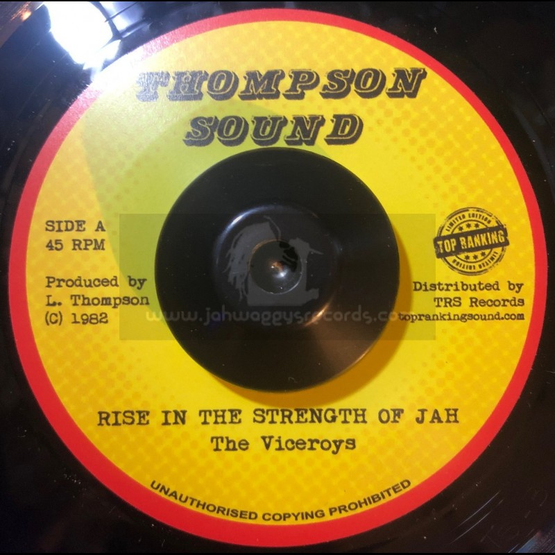 """Thompson Sound-Top Ranking Sound-7""""-Rise In The Strength Of Jah / The Viceroys"""