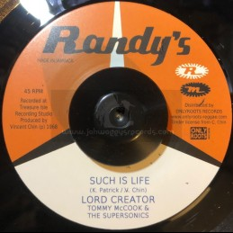 "Randys-7""-Such Is Like / Lord Creator + Come Down 69 / Lord Creator Tommy McCook & The Supersonics"