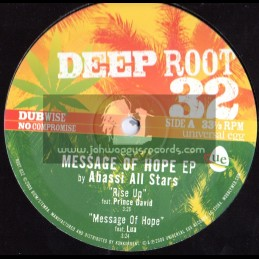 "Deep Root-10""-Message Of Hope EP,Feat Prince David,Lua,Brother Moses & Abassi All Stars"