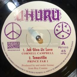 "Uhuru-10""-Jah Give Us Love / Cornell Campbell + Tenastelin / Prince Fari + Air Is Polluted / Charlie Chaplin"