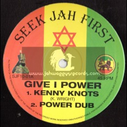 """Seek Jah First-10""""-Give I Power / Kenny Knots"""
