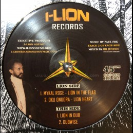 "I Lion Records-12""-Lion In The Flag / Mykal Rose + Lion Heart / Oku Onuora"