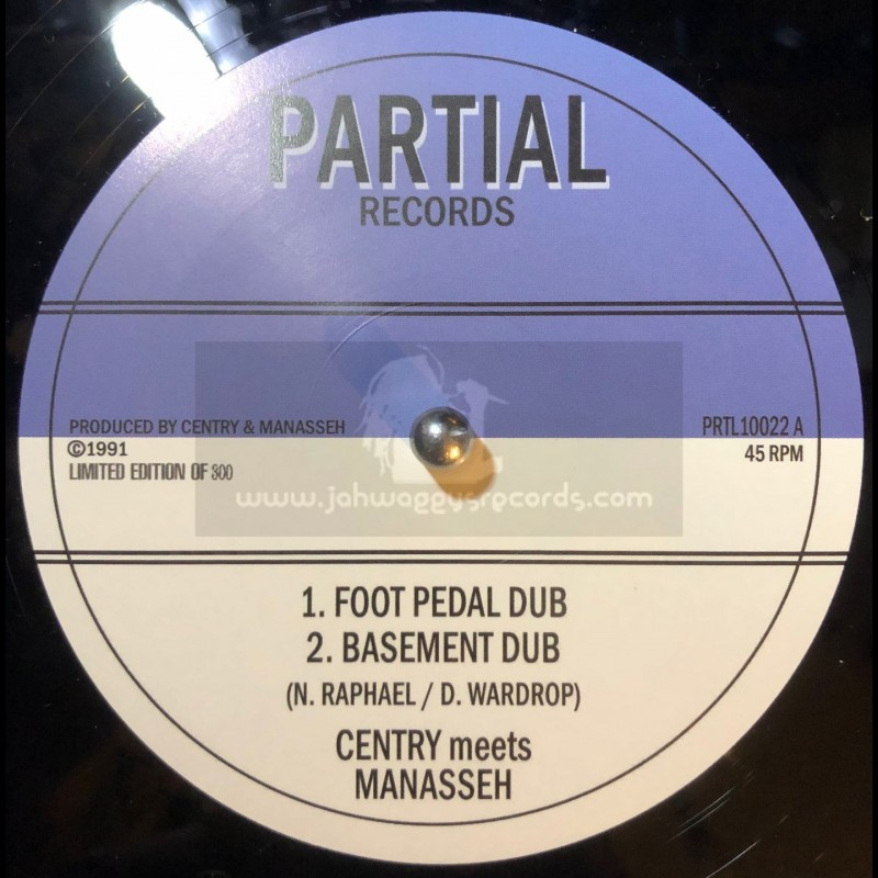 """Partial Records-10""""-Foot Pedal Dub / Centry meets Manasseh + Old King Cole / Centry - Limited 300 press"""