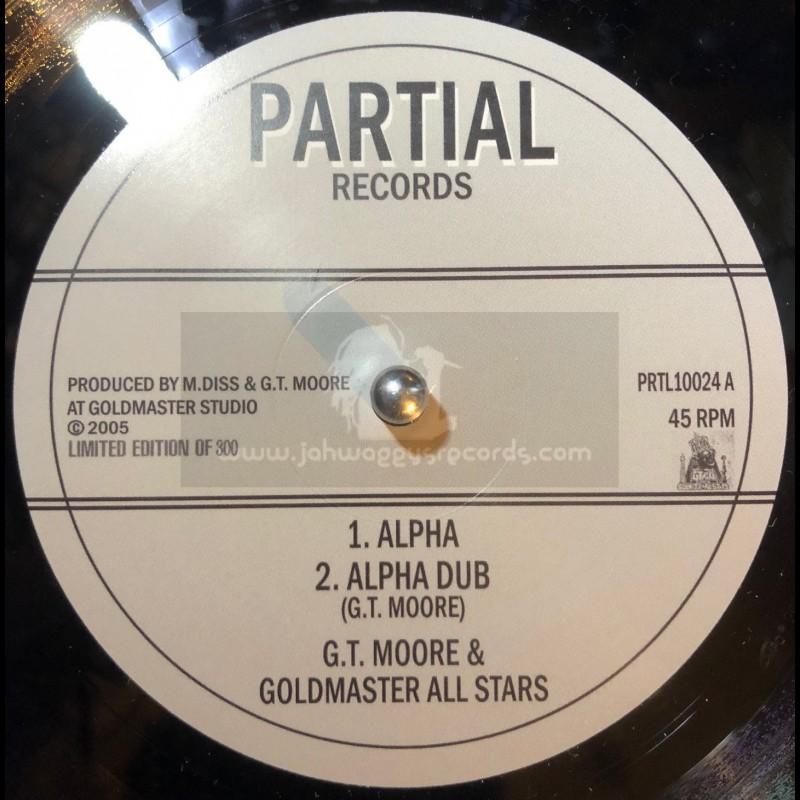 "Partial Records-10""-Alpha / G.T. Moore & Goldmaster Allstars - Limited 300 Press"