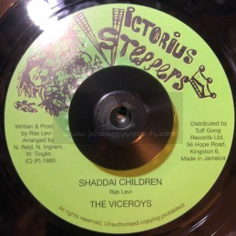 """VICTORIUS STEPPERS-7""""-SHADDAI CHILDREN / THE VICEROYS"""