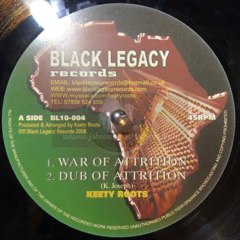 """Black Legacy Records-10""""-War Of Attrition + Solid Rock / Keety Roots"""