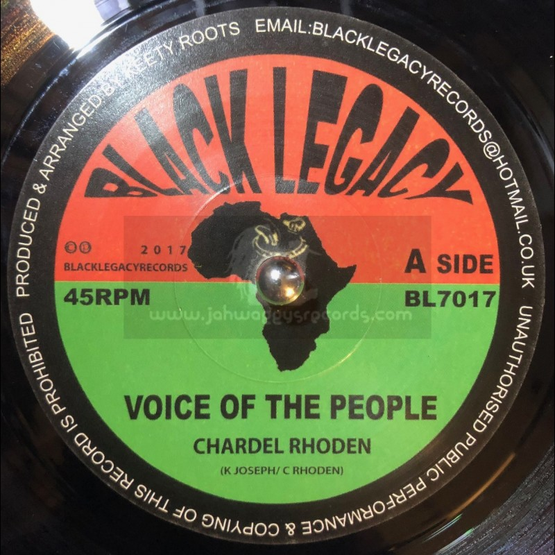 """Black Legacy Records-7""""-Voice Of The People / Chardel Rhoden + Dub People / Keety Roots"""