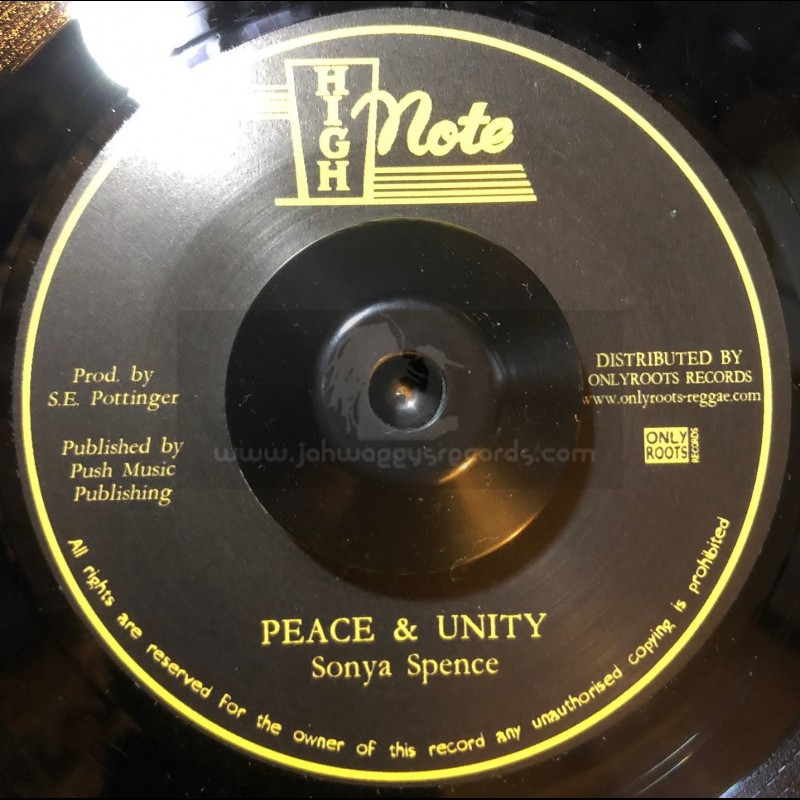 "High Note-7""-Peace And Unity / Sonya Spence"