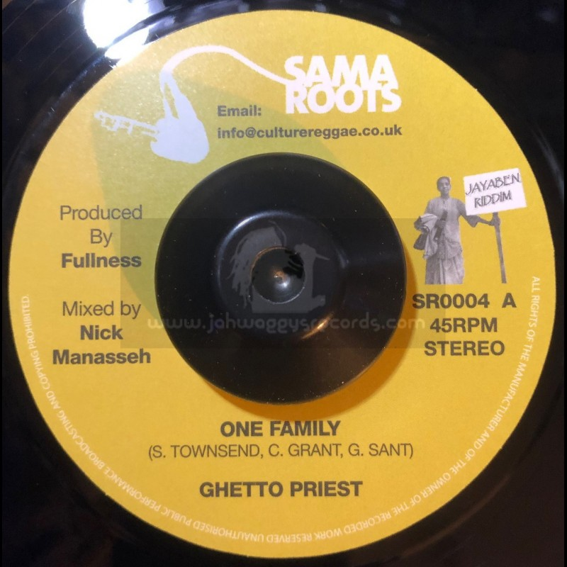 """Sama Roots-7""""-One Family / Ghetto Priest"""