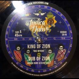 "Indica Dubs-10""-King Of Zion / Ras Mykha - Indica Dubs Meets Echo Vault"