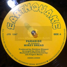 """Earthquake-Jah Fingers-12""""-Paradise / Mikey Dread + And Behold / Rainbow Stepper"""