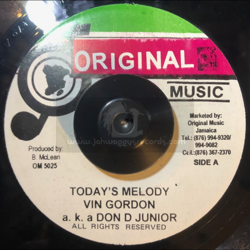 "Original Music-7""-Todays Melody / Vin Gordon"