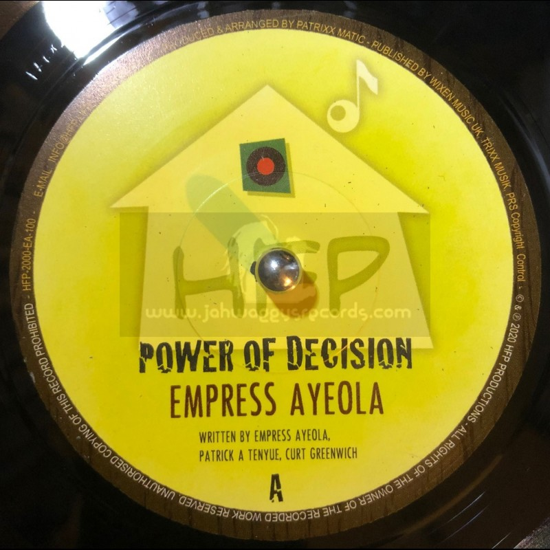 """Homefront Productions-7""""-Power Of Decision / Empress Ayeola"""