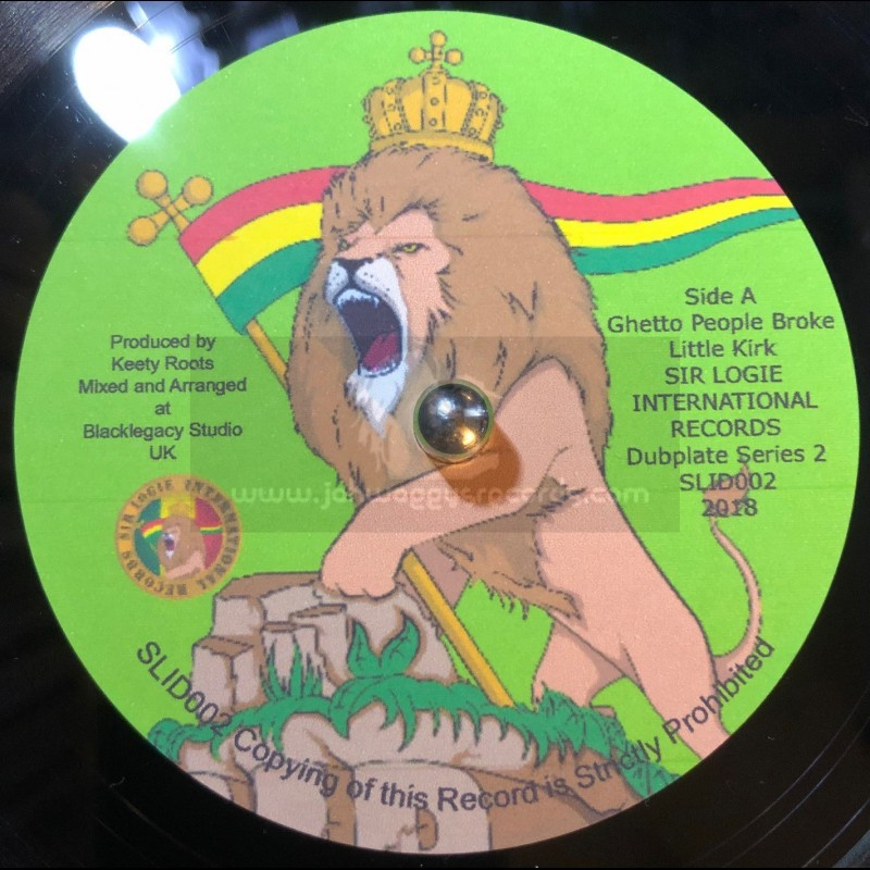"""Sir Logie International Records-7""""-Ghetto People Broke / Little Kirk - Limited Edition, Hand Cut Poly Vinyl"""