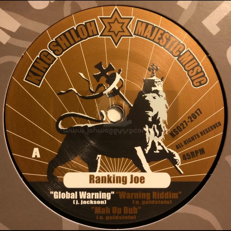 "King Shiloh Majestic Music-12""-Global Warning / Ranking Joe + Equal Rights / Ranking Joe"