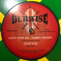 """DUBWISE PRODUCTIONS-10""""-CANT STOP WE / DADDY FREDDY + THE MIRROR / JUDY GREEN"""