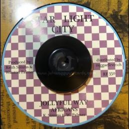 """Star Light City-7""""-Jollyful Way / Africans"""