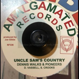"""Amalgamated-7""""-Uncle Sam's Country / Dennis Walks & Pioneers + The Hippys Are Here / Hippy Boys"""