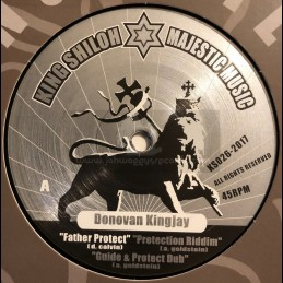 "King Shiloh Majestic Music-12""-Father Protect / Donovan Kingjay + Live Up Right / Donovan Kingjay"