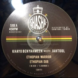 "Shasha Records-12""-Ethiopian Warrior / Khayo Benyahmeen Meets JahTool + Fayah Dance / Khayo Benyahmeen Meets JahTool"