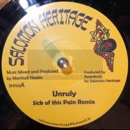 "Salomon Heritage-7""-Sick Of This Pain Remix / Unruly"