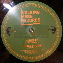 "Walking Mess Records-12""-Honesty / Alpha D & Sersha R"