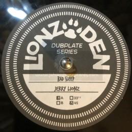 """Lionz Den-10""""-Poly Vinyl Dubplate-Bad Sleep / Jerry Lionz"""