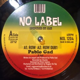 "No Label-12""-Row / Pablo Gad"
