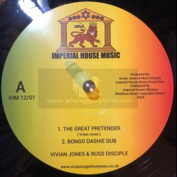 "Imperial House Music-12""-The Great Pretender / Vivian Jones Feat. Russ D & Bongo Dashie + Deep / Vivian Jones Feat.Ashanti Selah"