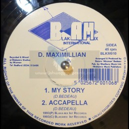 "Blakamix International-12""-My Story / D.Maximillian"