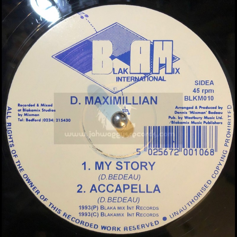 "Blakamix International-12""-My Story / D.Maximillian"