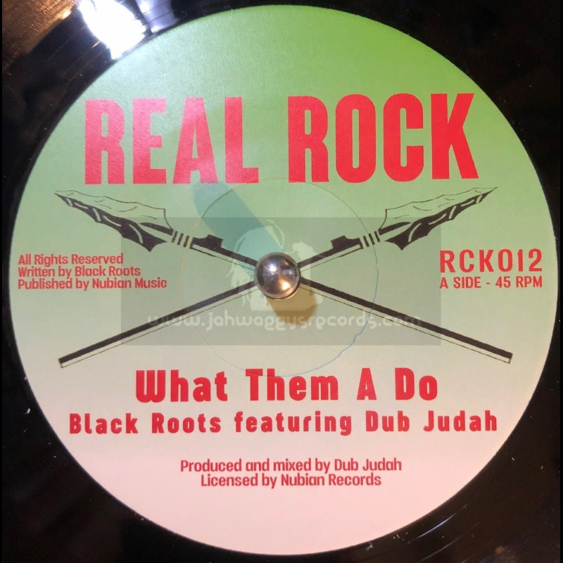 """Real Rock-7""""-What Them A Do / Black Roots Feat. Dub Judah"""