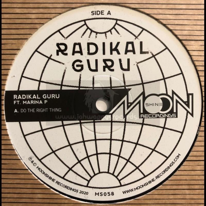 "Moonshine Recordings-12""-Do The Right Thing / Radikal Guru feat. Marina P"