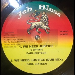 """Jah Bless-10""""-We Need..."""