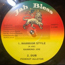 """Jah Bless-10""""-Warrior Style..."""