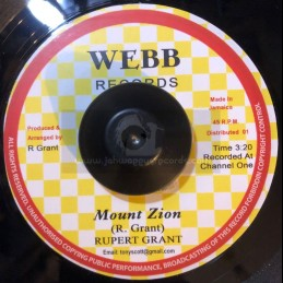 "Webb Records-7""-Mount Zion..."