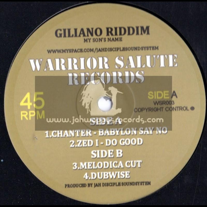 "Warrior Salute Records-10""-Babylon Say So / Chanter + Do Good / Zed I"