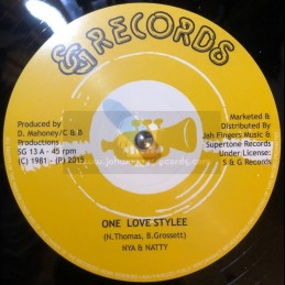 """S & G Records-12""""-One Love..."""