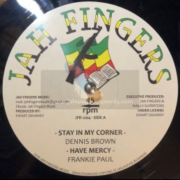 """Jah Fingers Music-12""""-Stay..."""