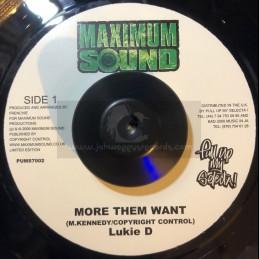 """Maximum Sound-7""""-More Them..."""