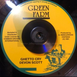 """Green Farm-7""""-Ghetto Cry /..."""