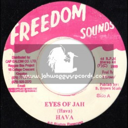 """Freedom Sounds-7""""-Eyes Of Jah / Hava"""