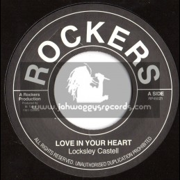 """Rockers-7""""-Love In Your Heart / Lacksley Castell"""