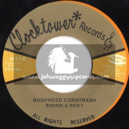 "Clock Tower Records-7""-Bushweed & Corntrash / Bonnie & Ricky (The Upsetters)"