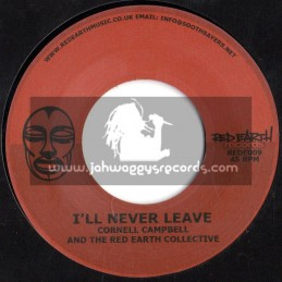"""Red Earth Records-7""""-I m Leaving / Lutan Fyah + I ll Never Leave / Cornell Campbell"""