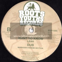 """Roots Youths Records-12""""-Want To Know/Leah(Manasseh) + Superstar/Singer Blue(Satchi)"""
