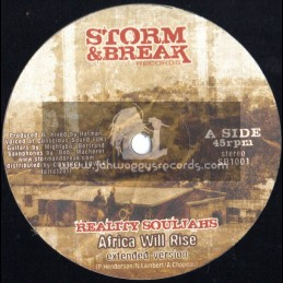 "Storm & Break Records-10""-Africa Will Rise / Reality Souljahs (Hatman)"