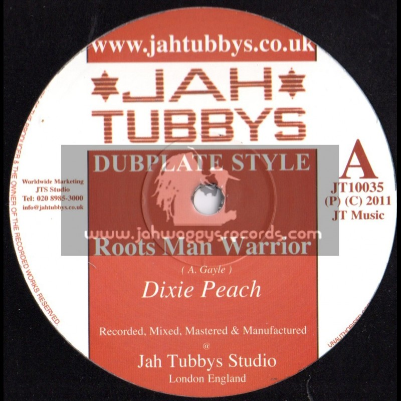 "Jah Tubbys-10""-Roots Man Warrior + Cry For Freedom / Dixie Peach"