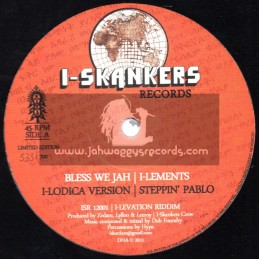 """I-Skankers Records-12""""-Dont Worry / Ranking Fox + Bless We Jah / I-Lements (LIMITED EDITION)"""