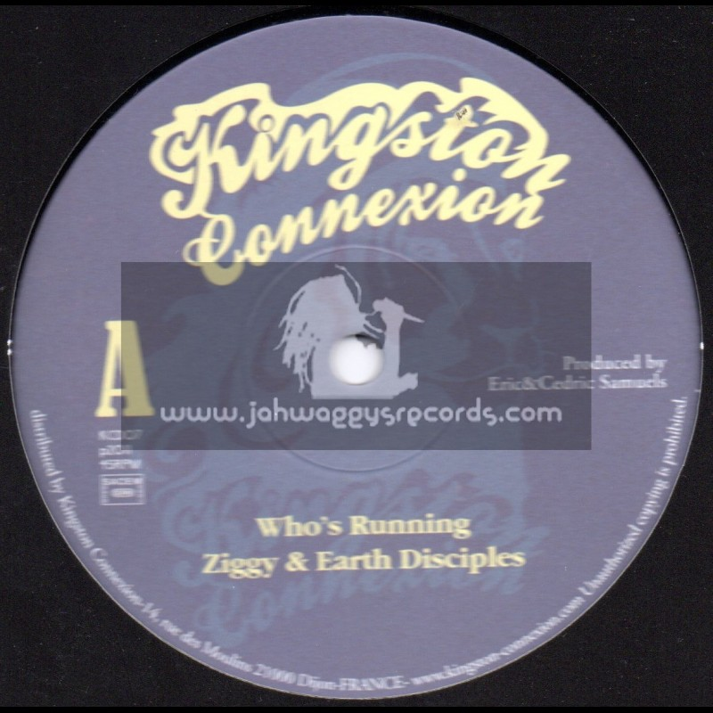 """Kingston Connexion-10""""-Who s Running / Ziggy & The Earth Disciples"""